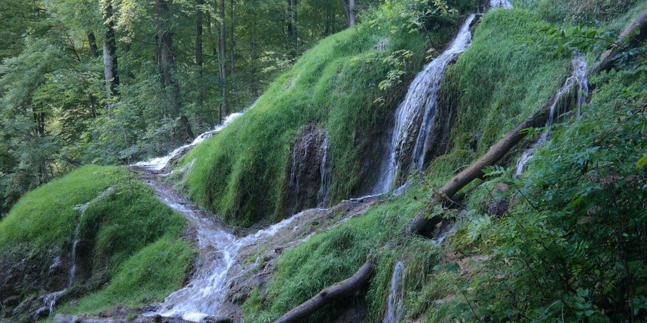 Schwäbische Alb, der Uracher Wasserfall